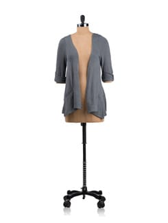 Grey Draped Cardigan - Allen Solly