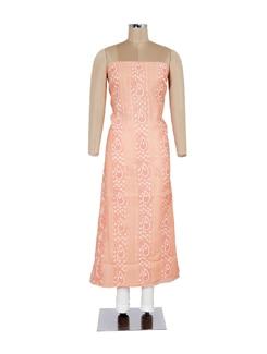 Peach Hued Embroidered Kurta - Ada