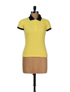 Sunny Yellow Polo Tee - Femella