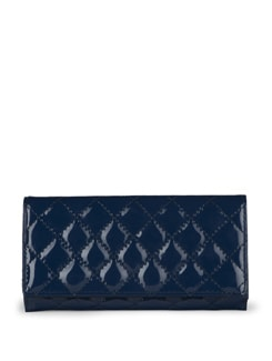 Quilted Navy Blue Wallet - Toniq