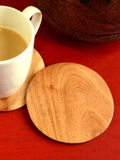 Neem Wood Plain Coasters - ARM'S