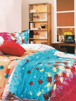 Abstract Printed Luxury Bedsheet Set - Just Linen
