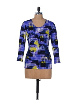 Abstract Print Long Sleeved Top - MARTINI