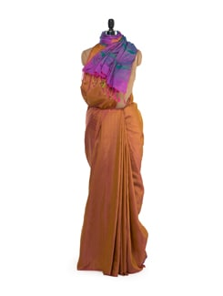 Gold & Purple Designer Saree - Saboo
