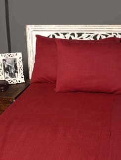 Classic Red Double Bedsheet With 2 Pillow Covers - HOUSE THIS