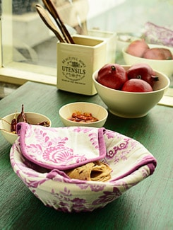 Floral Print Bread Basket - HOUSE THIS