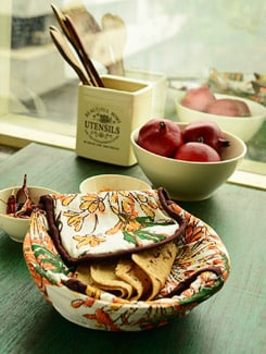 Vibrant Floral Print Bread Basket - HOUSE THIS