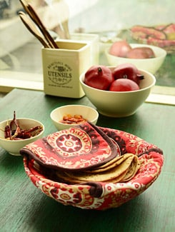 Ethnic Print Bread Basket - HOUSE THIS