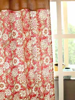 Exquisite Floral Print Curtain - HOUSE THIS