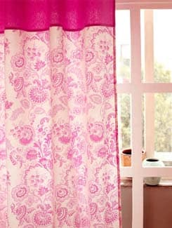Dainty Floral Cotton Curtain - HOUSE THIS
