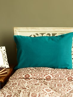 Teal Blue Set Of 2 Pillow Covers - HOUSE THIS