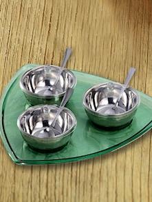 Silver Condiment Set - 10 Pieces - Awkenox