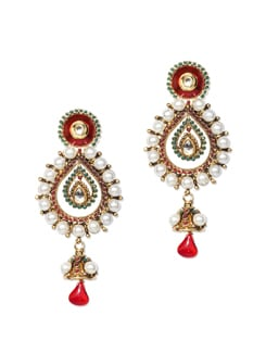 Tear Drop Traditional Earrings - Vendee Fashion