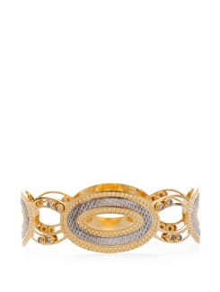 Circular Loop Golden Bangle - Vendee Fashion