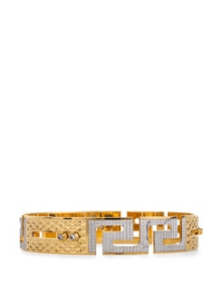 Stylish Maze Golden Bangle - Vendee Fashion