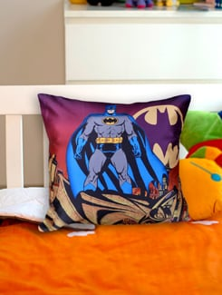 Funky Batman Cushion Cover - Warner Brothers By Mesleep