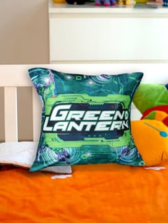 Quirky Green Lanter Cushion Cover - Warner Brothers By Mesleep