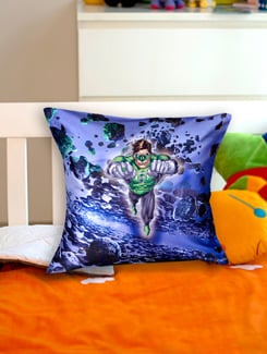 Comic Cool Green Lantern Cushion Cover - Warner Brothers By Mesleep