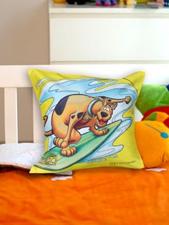 Surfing Scooby Doo Cushion Cover - Warner Brothers By Mesleep