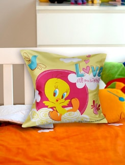 Tweety Loves The World Cushion Cover - Warner Brothers By Mesleep