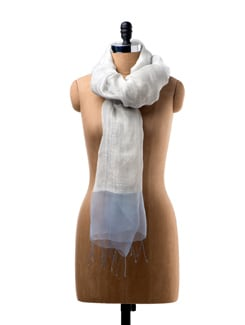 Hand Woven Scarf With An Organza Border - WELKIN