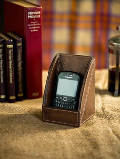 Leather Mobile Holder - Lthr