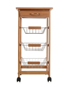 buy wooden kitchen trolley by spread online shopping for