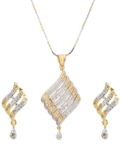 Trendsetting Gold & Silver Pendant Necklace - A.J. accessories
