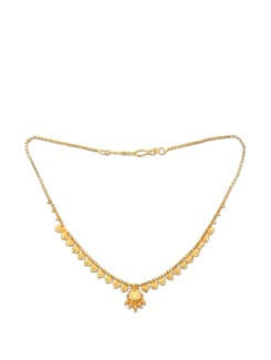 Elegant Gold Necklace With Earrings - Lely Jewellery