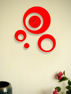 Neon Red Clock With Multiple Dials - BLACKSMITH