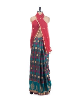 Polka Dotted Saree - URBAN PARI