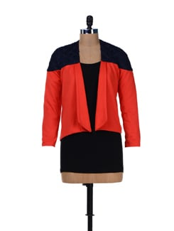 Trendy Red Lace Jacket - L'elegantae