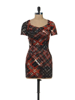 Chequered Print Dress - SPECIES