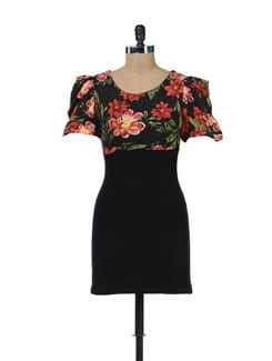 Floral Print Woolen Dress - SPECIES