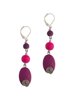Elegant Purple & Pink Earrings - Eesha Zaveri; Jewellery By Design
