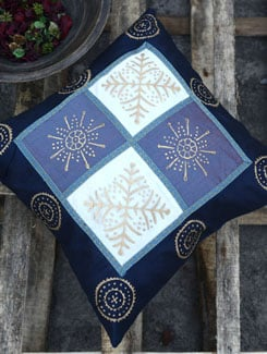Zari Embroidered Navy Blue Cushion Cover - Ruhaan's