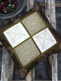 Earthy Brown Set Of Two Cushion Covers - Ruhaan's