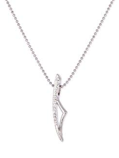 Silver Necklace With An Unique Pendant - Sanchey