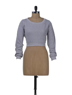 Chic Grey Crop Top - Miss Chase