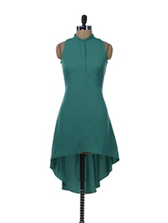 Breezy Emerald Green Asymmetric Dress - Miss Chase
