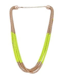 Luxe Layered Neon Yellow Necklace - Miss Chase