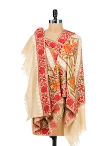 Classic Beauty Embroidered Shawl - Vayana