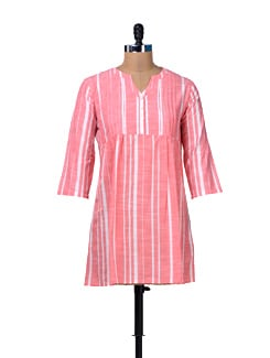Red & White Striped Tunic - MARTINI
