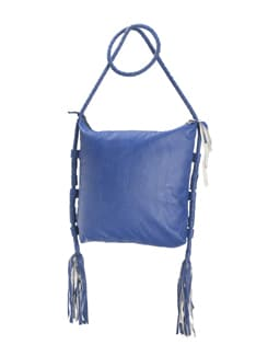 Indigo Blue Sling With Tasseled Detailing - Nineteen