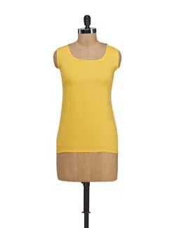 Sunshine Yellow Top With Cutouts - Nineteen
