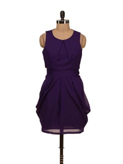 Chic Purple Tulip Dress - Besiva
