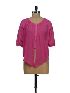 Rani Pink Tie Up Shirt - Besiva