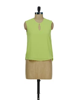 Lime Green Keyhole Top - Besiva