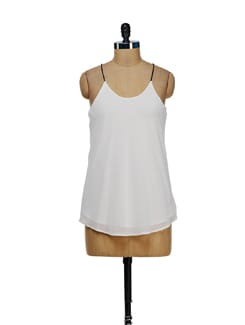 Trendy White String Top - Besiva
