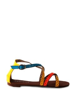 Color Fusion Strappy Sandals - Addons
